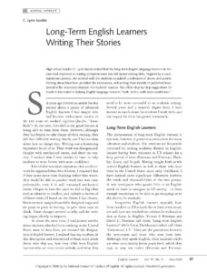 Long-Term English Learners Writing Their Stories – Write Learn Lead