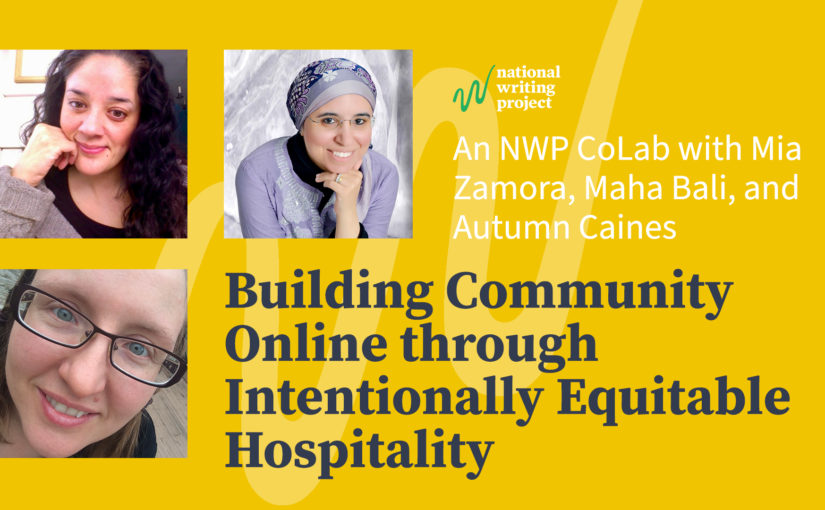 Building Community Online Through Intentionally Equitable Hospitality, An NWP CoLab